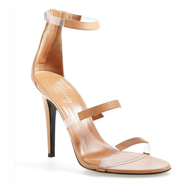 TAMARA MELLON frontline sandal - Transparent insets create the illusion of floating straps...