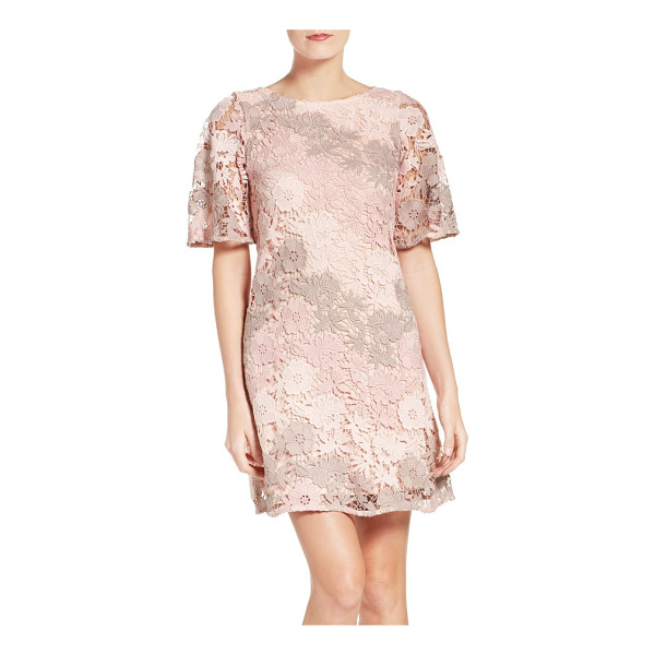 TAYLOR DRESSES lace a-line dress - Fresh and springy in allover floral lace.