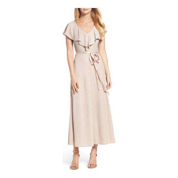 TAYLOR DRESSES ruffle maxi dress - It's time to shine at your next party in this softly...