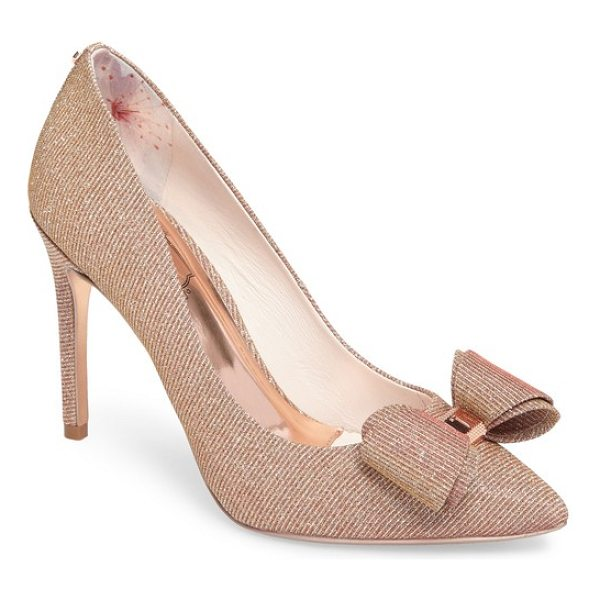 TED BAKER azeline bow pump - A hardware-embellished bow adds a signature flourish to a...