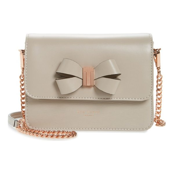 TED BAKER callih bow leather crossbody bag - A sophisticated mix of textures brings mixed-media appeal...
