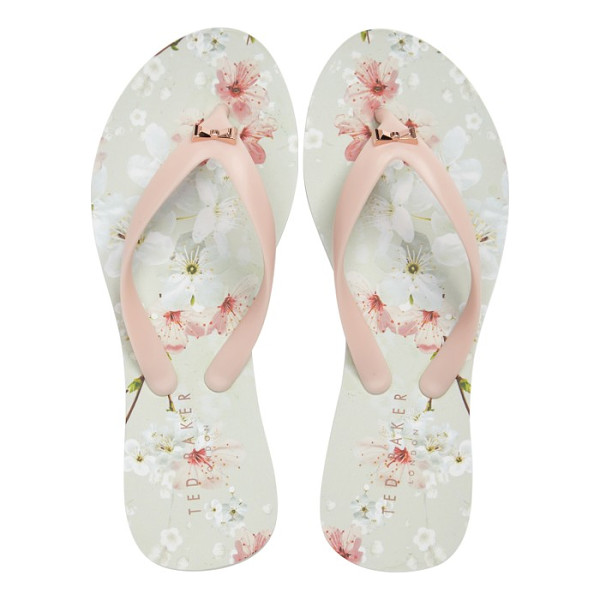 TED BAKER aalo flip flop - A signature rose-gold bow glints from the thong strap of an...