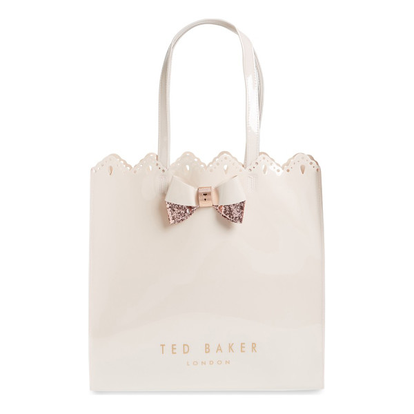 TED BAKER LONDON belacon large icon tote - Slightly shimmery, scalloped and set off with a signature,