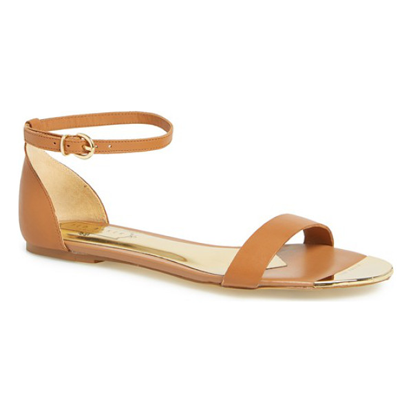 TED BAKER bellena 3 leather ankle strap sandal - Barely there ankle and toe straps comprise a minimalist...