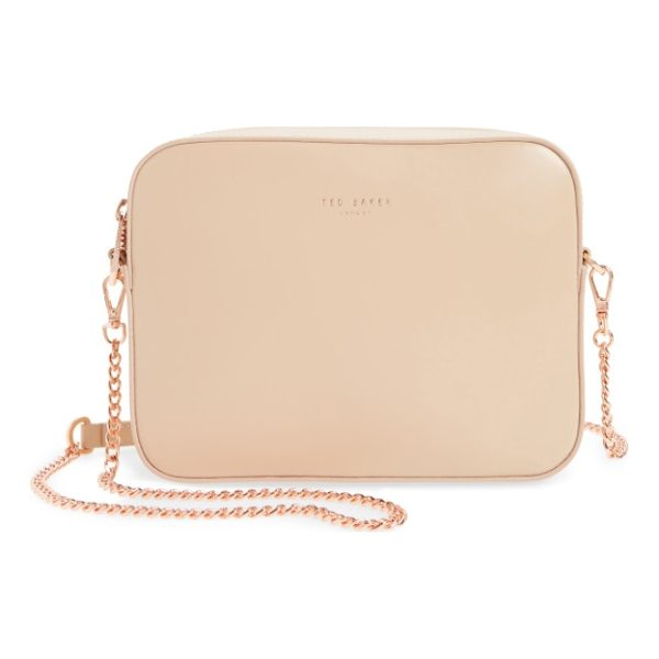 TED BAKER casey camera crossbody bag - A boxy, structured silhouette inspired by vintage camera...