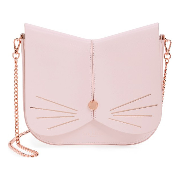 TED BAKER cat leather crossbody bag - A feline-inspired handbag complete with whiskers, a button...
