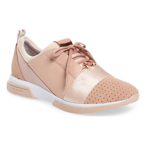 TED BAKER cepa sneaker - Breezy perforations and a lustrous panel inset merge...