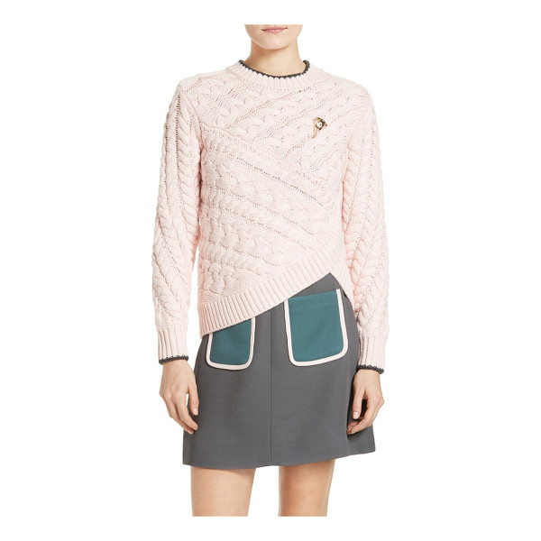 TED BAKER charo cable knit wrap front sweater - From the Colour by Numbers Collection by Ted Baker. Chunky...