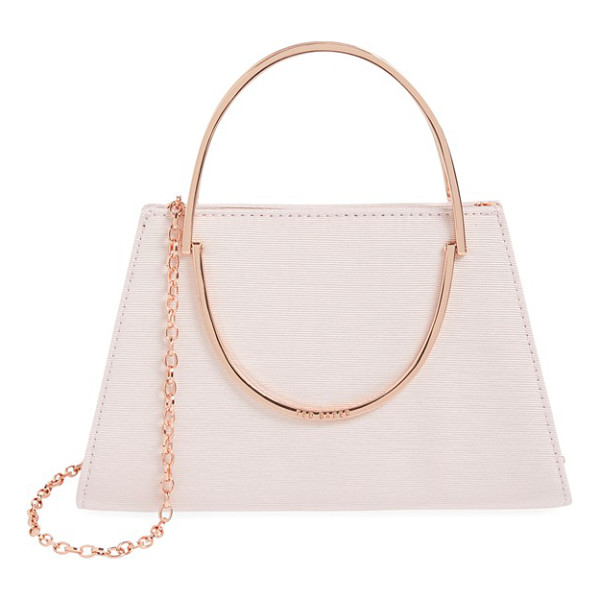 TED BAKER Convertible crossbody bag - A grosgrain finish shimmers on a compact evening bag...