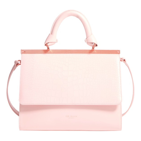 TED BAKER croc embossed leather satchel - It's a snap to elevate everyday looks with one beautifully...