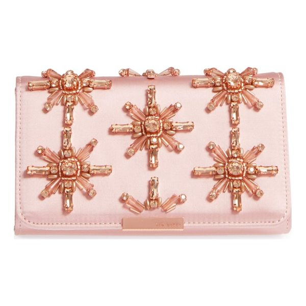 TED BAKER daveena crystal embellished satin clutch - A satin clutch featuring exquisite crystal starbursts is...