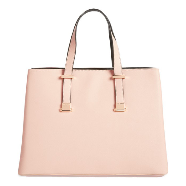TED BAKER Faux leather shopper - Innovative adjustable handles allow you to carry this chic,...