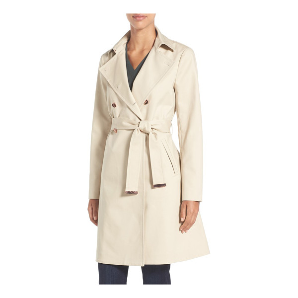 TED BAKER flared skirt trench coat - A classic, belted trench coat in stretch-woven cotton shows...