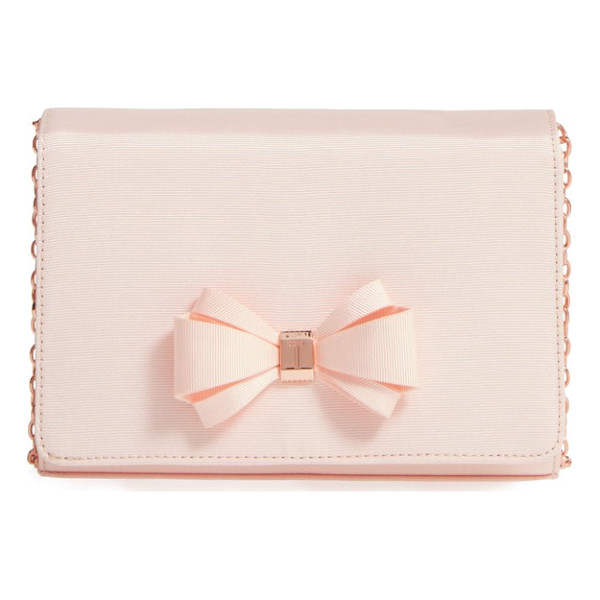 TED BAKER grosgrain clutch - Go graceful with a grosgrain clutch set off with a...