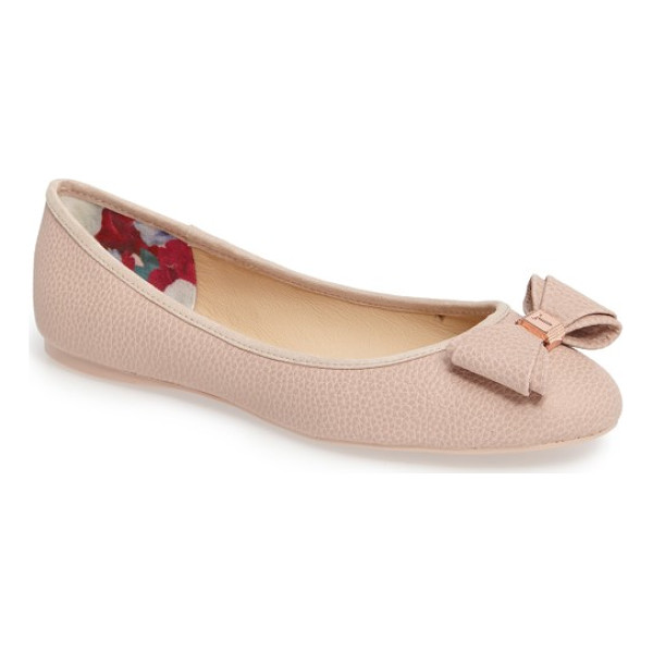 TED BAKER immet ballet flat - Rich pebbling defines a generously cushioned ballet flat...