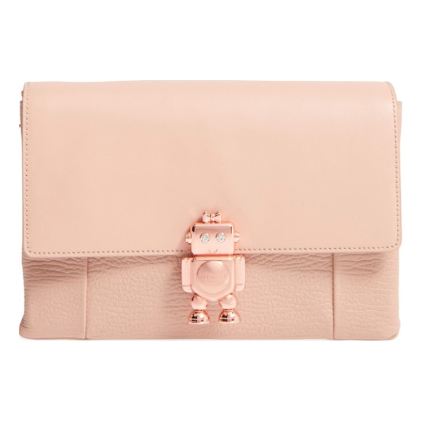 TED BAKER jemms leather crossbody bag - An adorable, diminutive robot adorning the smooth flap adds...