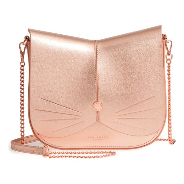 TED BAKER kittii cat leather crossbody bag - A feline-inspired handbag complete with whiskers, a button...