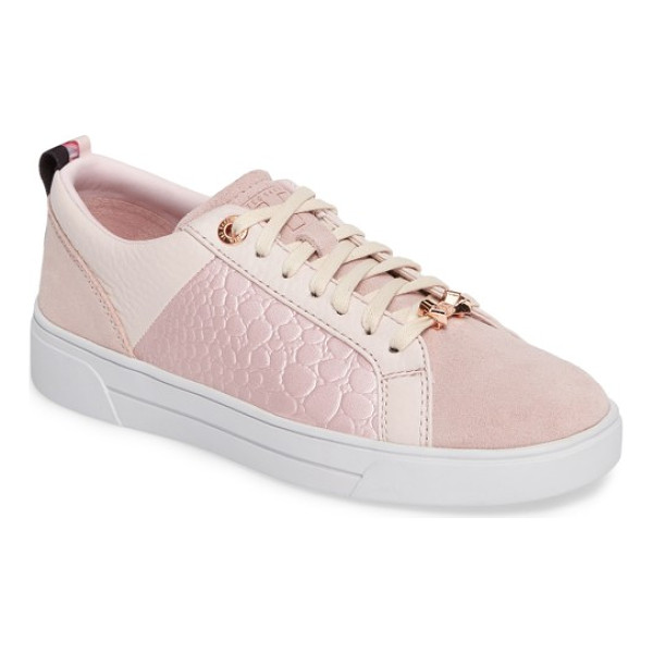 TED BAKER kulei sneaker - Metallic accents enhance the striking appeal of a...