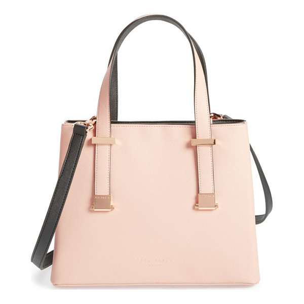 TED BAKER Lady adjustable handle faux leather shopper - Adjustable magnetic carry handles can be extended to...