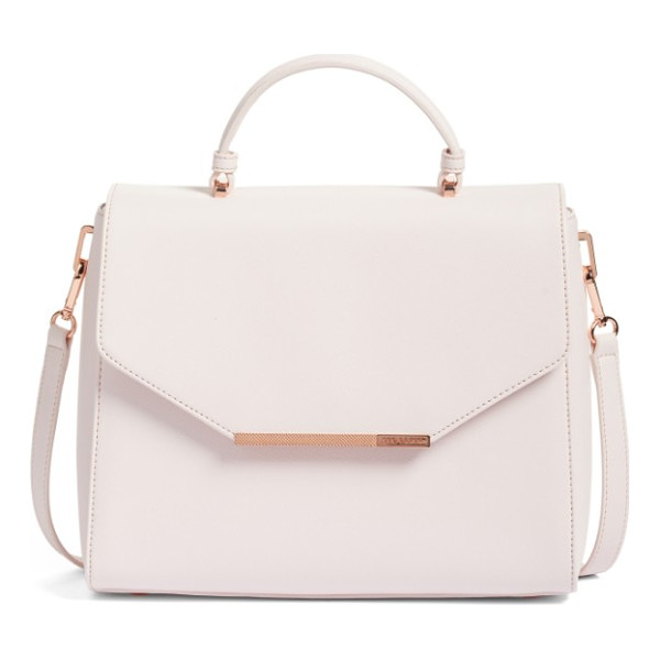 TED BAKER large dajana faux leather top handle satchel - Signature rose-goldtone hardware complements the ultra-pale...