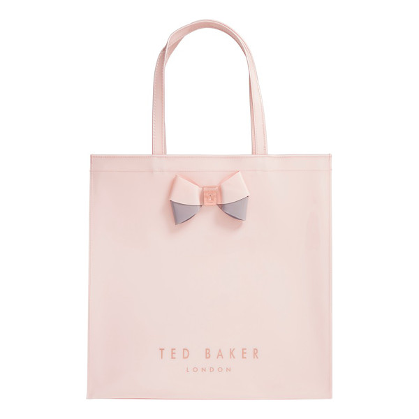 TED BAKER 'large icon - A duo-tone bow held by logo-etched hardware makes this