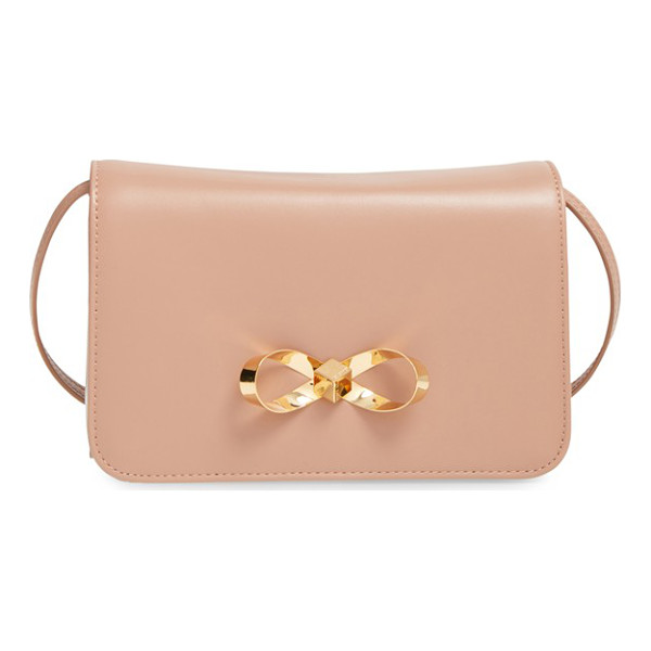 TED BAKER Loop bow leather crossbody bag - Offering hands-free style, a ladylike leather crossbody bag...