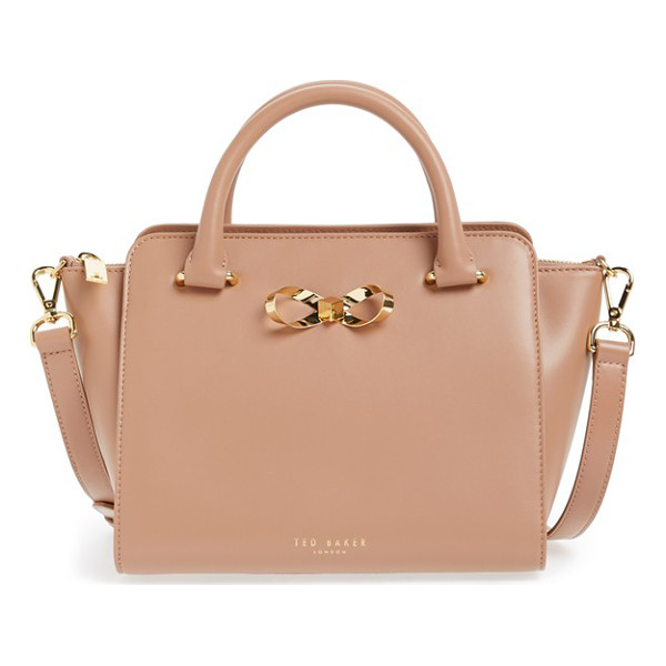 TED BAKER Loop bow leather tote bag - A ladylike structured leather tote is the perfect...