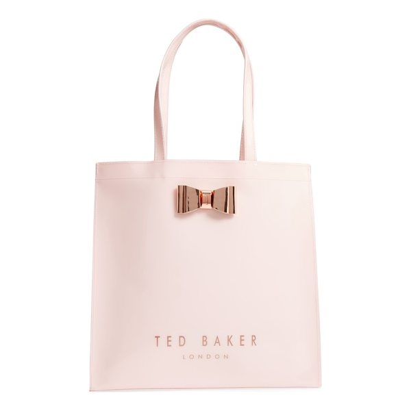 TED BAKER mandcon - A signature rose-gold bow held by gleaming logo-etched...