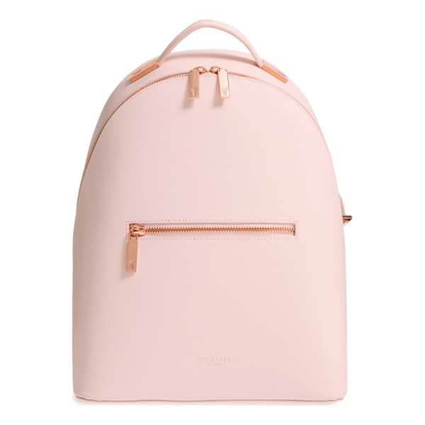 TED BAKER LONDON mini jarvis leather backpack - Sleek and contemporary, this Ted Baker London backpack made