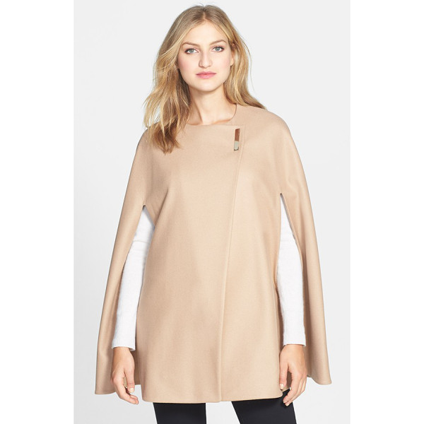 TED BAKER minimalist wool blend cape - Cloak yourself in refined elegance with a cashmere-infused...