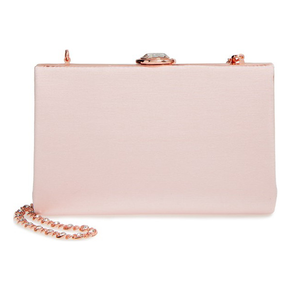 TED BAKER Necklace clutch - Shimmering rose-goldtone hardware frames a stunning clutch...