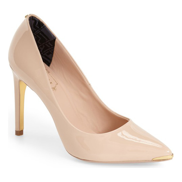 TED BAKER neevo pointy toe pump - A tall pointy-toe pump is both refined and feminine with a...