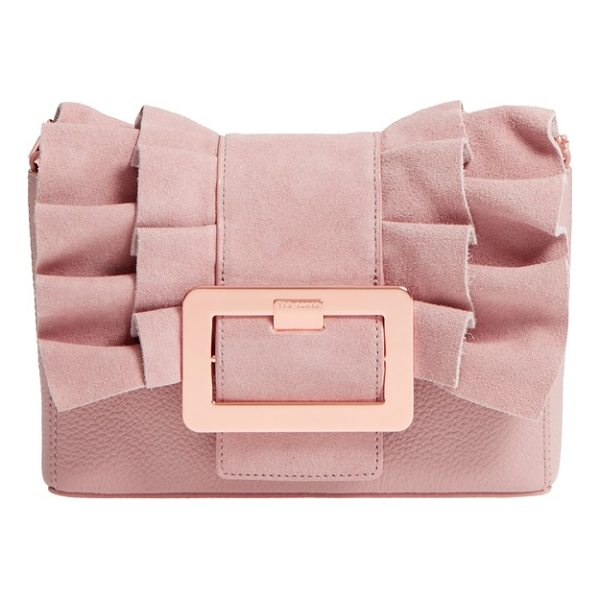 TED BAKER nerinee bow buckle clutch - A frilled bow cinched with a gleaming oversized buckle...
