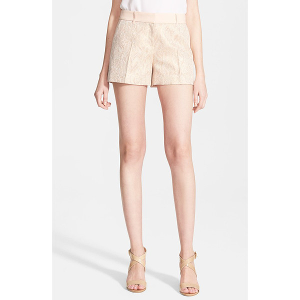 TED BAKER nidia jacquard shorts - Luxe jacquard shorts are woven with metallic gold threads...