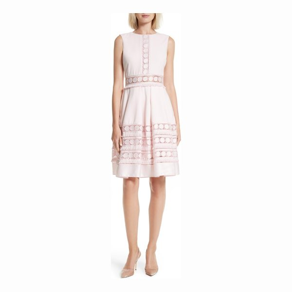 TED BAKER olym contrast trim dress - Circular lace trim tipped with fringe adds a touch of...