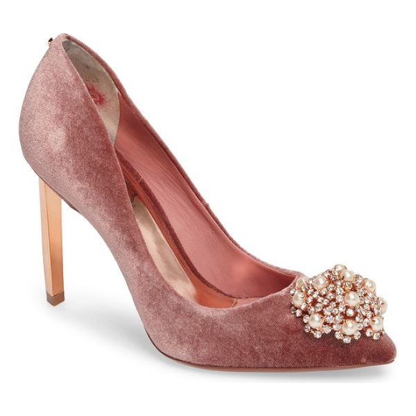 TED BAKER 'peetch' pointy toe pump - The dazzling, crystallized dome at the toe of the Peetch...