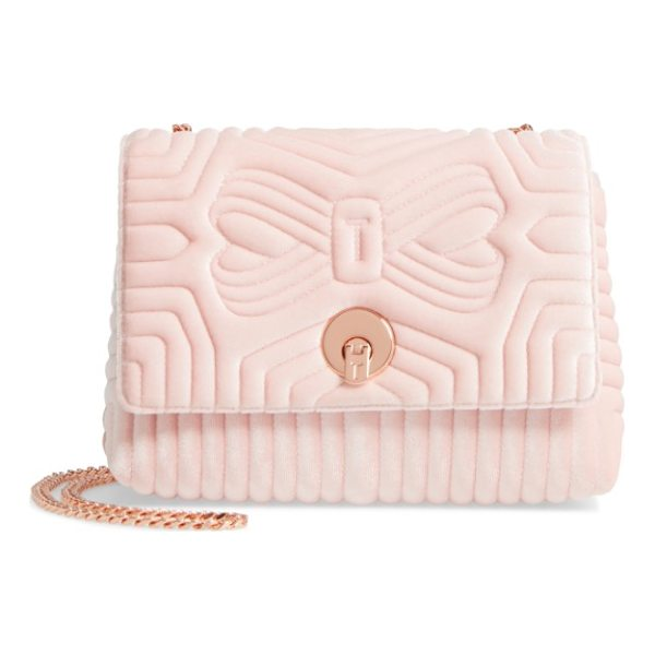 TED BAKER quilted velvet crossbody bag - Textured velvet adds lush vintage style to an impeccably...