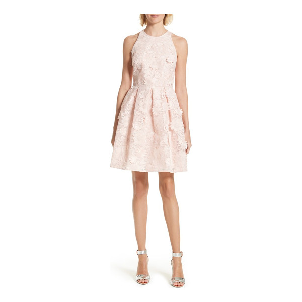 TED BAKER sweetee lace skater dress - A flouncy party dress is pure confection in pale-pink lace...