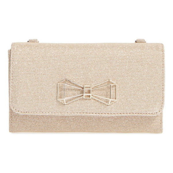 TED BAKER 'traynor' crossbody bag - Golden glitter distinguishes a small, structured crossbody...