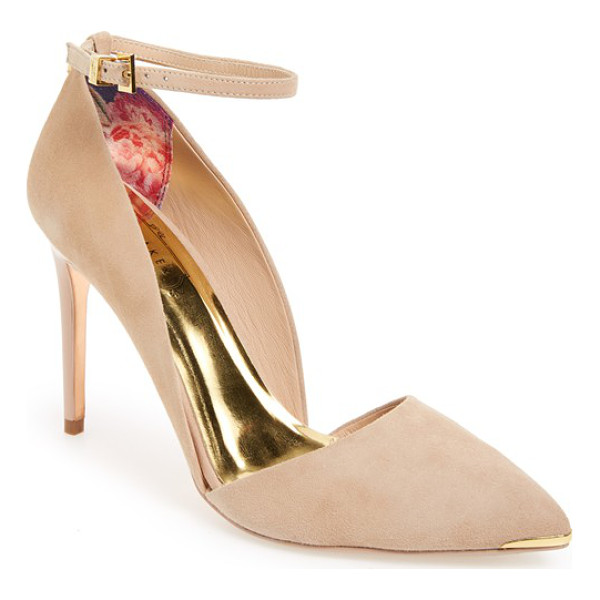 TED BAKER vleyi dorsay pointy toe pump - A dramatic pointy toe accented in gleaming metal and a...
