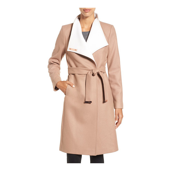 TED BAKER wrap coat - A touch of cashmere enhances the cozy feel of an elegant...