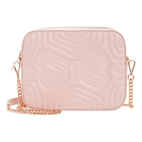 TED BAKER sunshine quilted leather camera crossbody bag - Meticulous matelasse stitching adds exquisite dimension to...