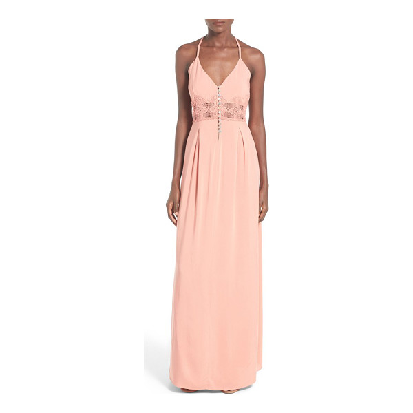 TEN SIXTY SHERMAN button front maxi dress - An orderly row of iridescent buttons adds an ethereal glow...