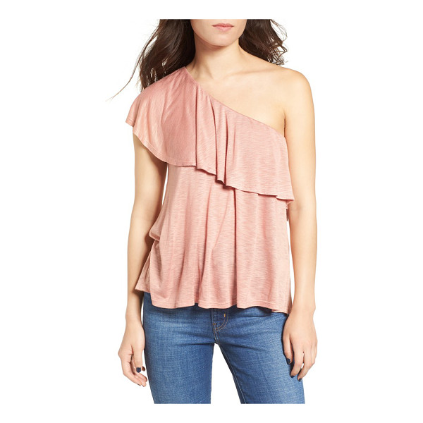 TEN SIXTY SHERMAN one shoulder ruffle top - A soft ruffle cascades from right to left across the top of...