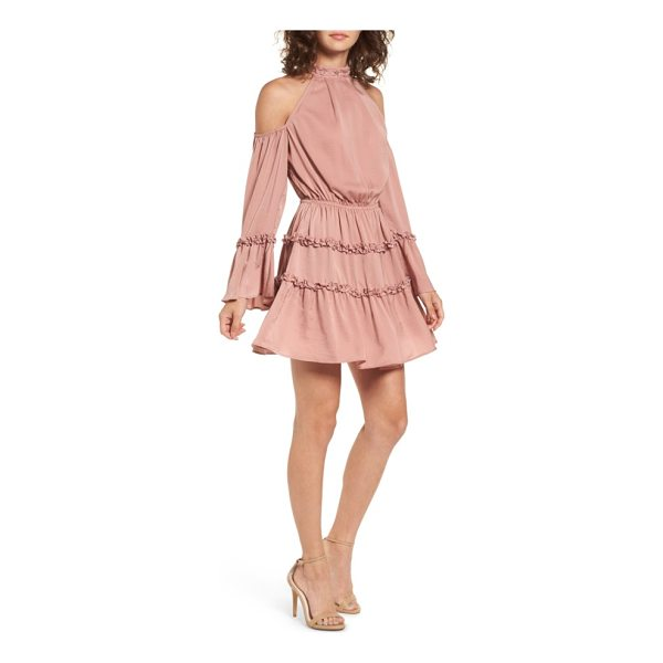 THE FIFTH LABEL banjo ruffle cold shoulder dress - Playful ruffles ring around the sleeves and skirt of this...