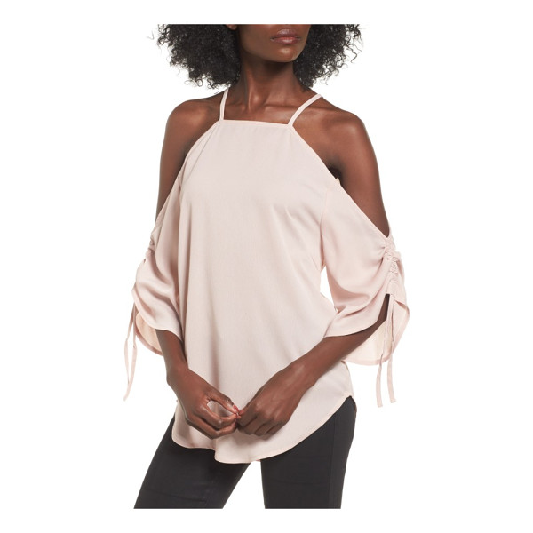 THE FIFTH LABEL the future dream ruched cold shoulder top - A cold-shoulder neckline and ruched statement sleeves add...