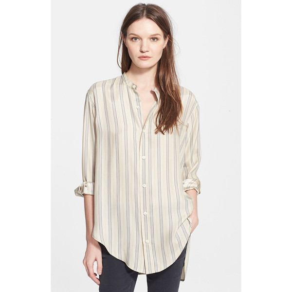 THE GREAT the century boyfriend silk shirt - Classic menswear styling revamped for her with impeccable...