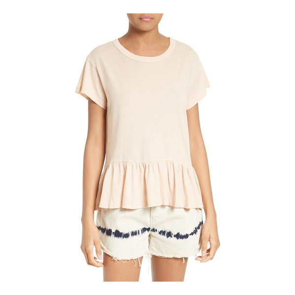 THE GREAT the ruffle tee - A cool play on masculine and feminine styles, a crewneck...