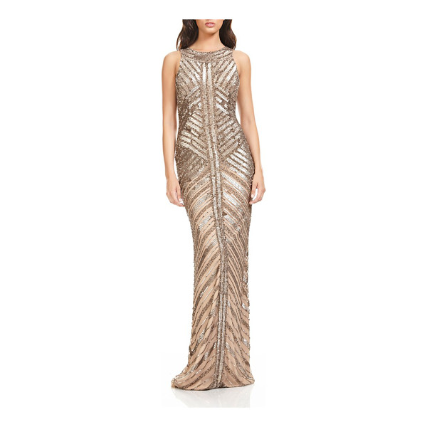 THEIA sequin column gown - Light up the holiday party in this glitzy evening gown that...