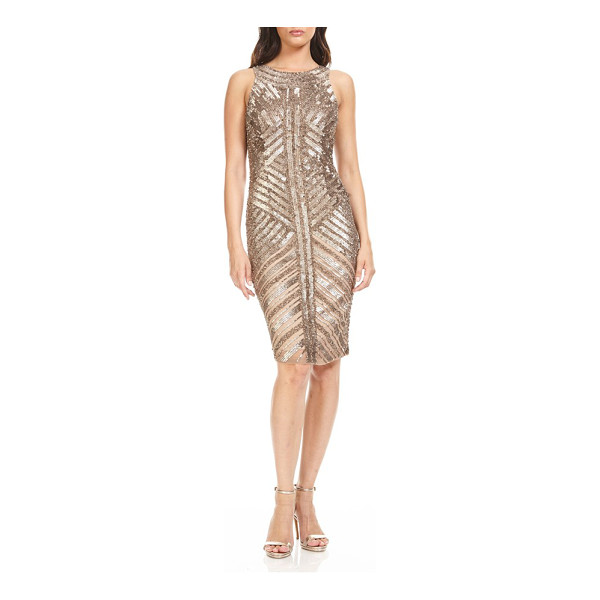 THEIA sequin sheath dress - Light up the holiday party in a glitzy cocktail dress that...